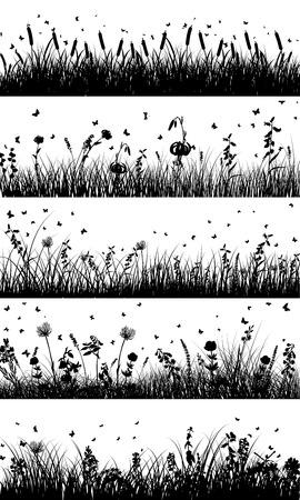 Fondo de pradera de verano Vectores