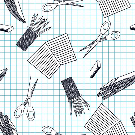 Retour au thème de l'école sans soudure de fond Vector illustration