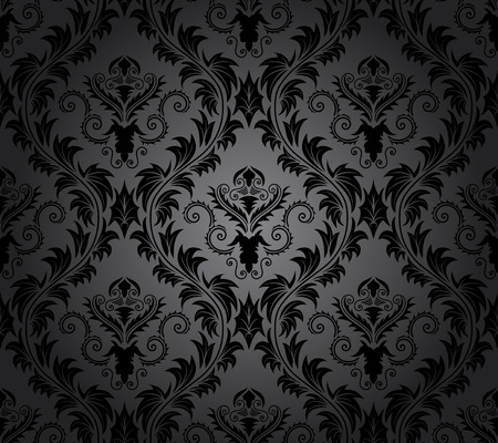 victorian wallpaper: Damask seamless vector pattern.  For easy making seamless pattern just drag all group into swatches bar, and use it for filling any contours. Illustration