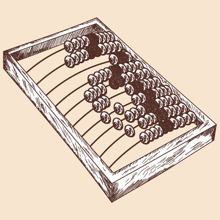 Wooden abacus sketch. EPS 10 vector illustration without transparency.  Vector
