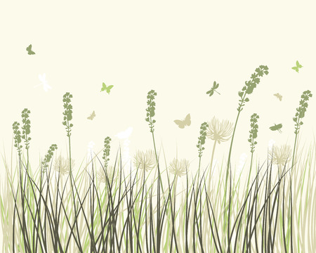 Summer meadow background. EPS 10 vector illustration without transparency and meshes. Vector