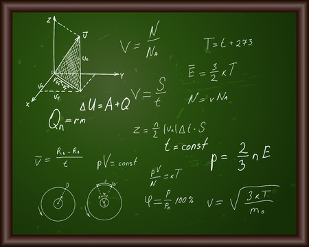 Blackboard with physical formulas Vector