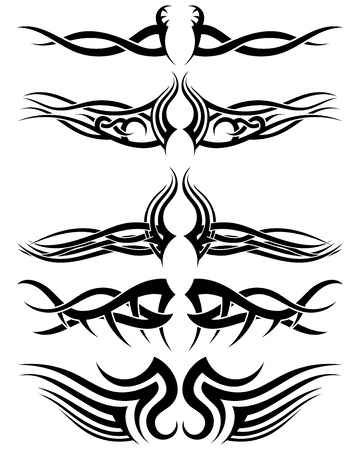 celtic background: Set tribal tattoos. EPS 10 vector illustration without transparency.
