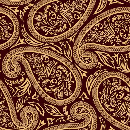 Oriental komkommers naadloze vector patroon. Voor gemakkelijk maken naadloze patroon gewoon slepen alle groep in stalen balk, en gebruik het voor het vullen van alle contouren. Stockfoto - 39703888