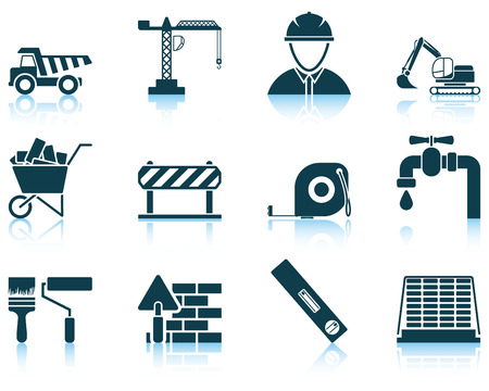 construction equipment: Set of construction icon. EPS 10 vector illustration without transparency.