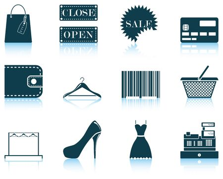 Set of shopping icon. EPS 10 vector illustration without transparency. Vector