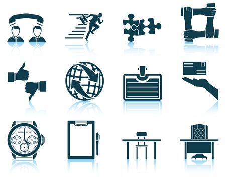 eps 10: Set of business icon. EPS 10 vector illustration without transparency. Illustration