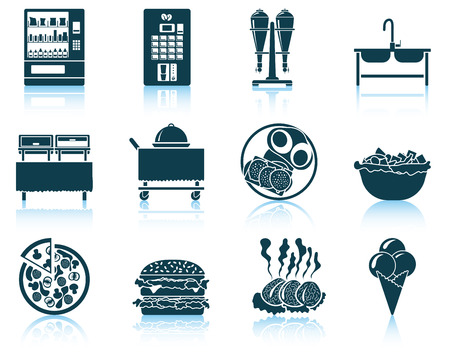 dessert buffet: Set of restaurant icon. EPS 10 vector illustration without transparency.