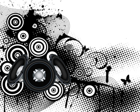 musical background: Musical background. EPS 10 vector illustration without transparency. Illustration