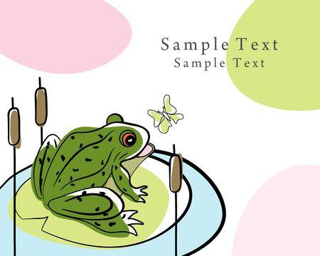 bog: Summer time doodle card.