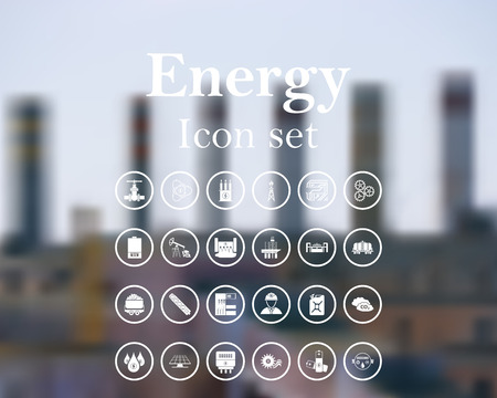 energy buttons: vector illustration with mesh and without transparency. Illustration