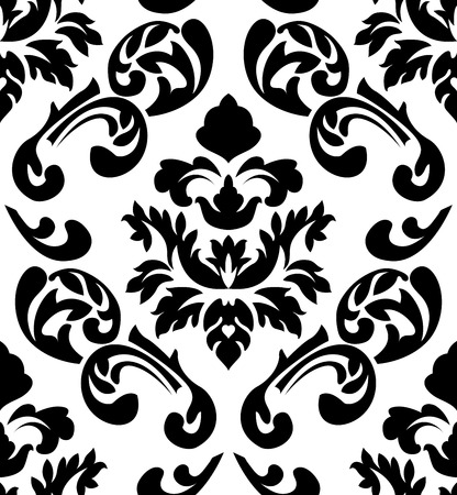 Damask seamless pattern. EPS 10 vector illustration without transparency. Vector