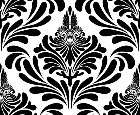 swirls vector: Damask seamless pattern. EPS 10 vector illustration without transparency.