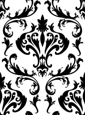 damask seamless: Damask seamless pattern. Illustration