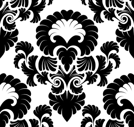 seamless damask: Damask seamless pattern. Illustration