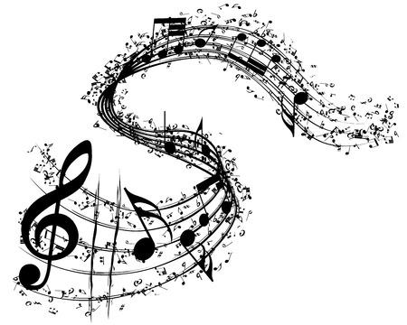 Sottofondo musicale. illustrazione vettoriale senza trasparenza.