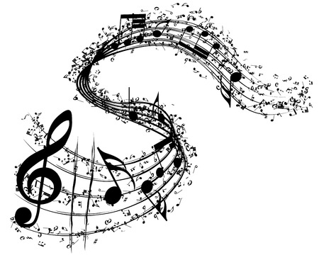 Musical background. vector illustration without transparency. Vettoriali