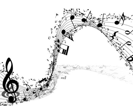 sheet music background: Musical background.vector illustration without transparency.