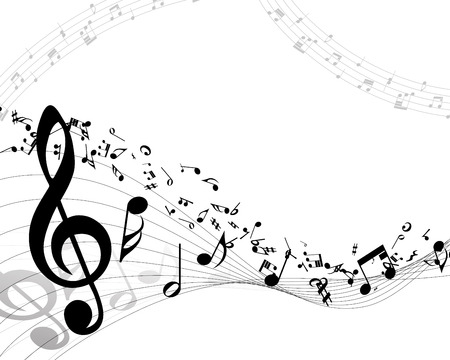 Musical background. vector illustration without transparency. Stock Illustratie