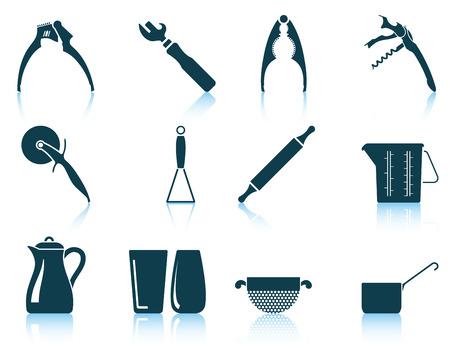 mesure: Set of utensil icons.
