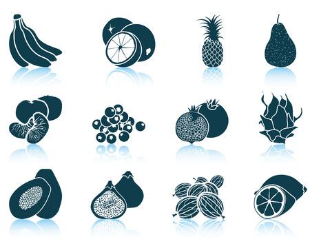 fruit du dragon: Ensemble d'ic�nes de fruits.