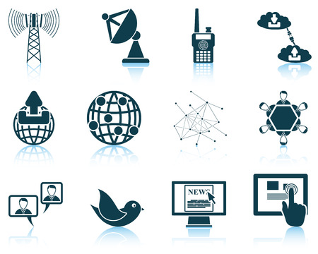 tv network: Set of communication icons. Illustration