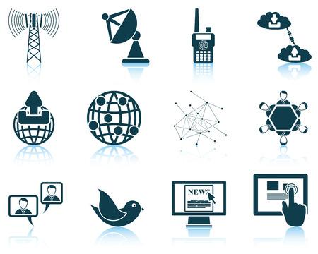 communication icons: Set of communication icons. Illustration