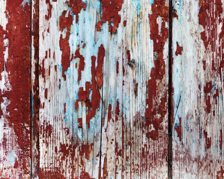 그린: Old painted wooden texture. 일러스트