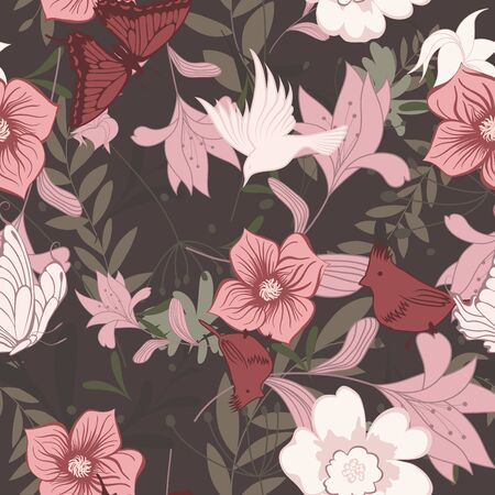seamless floral: Seamless floral pattern. Illustration