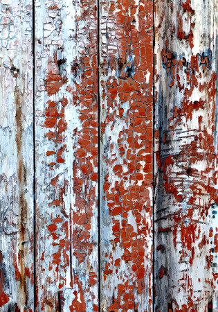 wooden texture: Old painted wooden texture. Illustration
