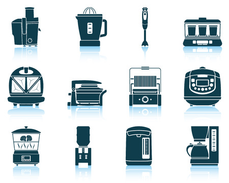 Set of kitchen equipment icons.