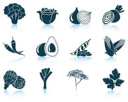 perejil: Conjunto de iconos de vegetales.