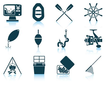 pescando: Conjunto de iconos de pesca.