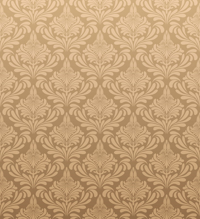 Damask seamless vector pattern.  For easy making seamless pattern just drag all group into swatches bar, and use it for filling any contours. Illusztráció