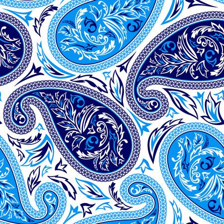 Oriental paisley seamless pattern 일러스트