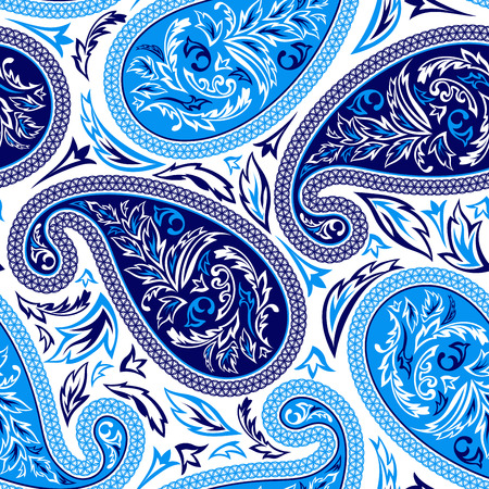 Oriental paisley seamless pattern Vectores