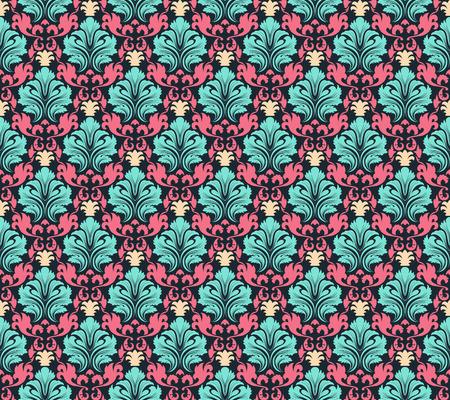 colourfull: Colourfull  seamless damask ornate  pattern