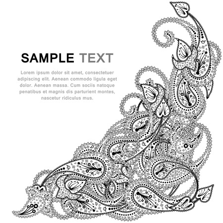 Paisley pattern with copy-space frame