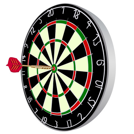 dart on target: Color Darts aim with darts.