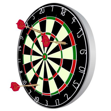 Color Darts aim with darts.