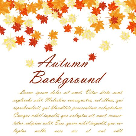 copyspace: Autumn copy-space frame with maple leaves Illustration