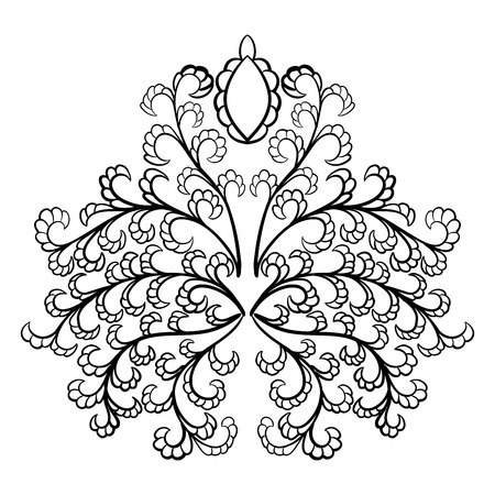 emblems: Emblem in Damask Style Over White Background