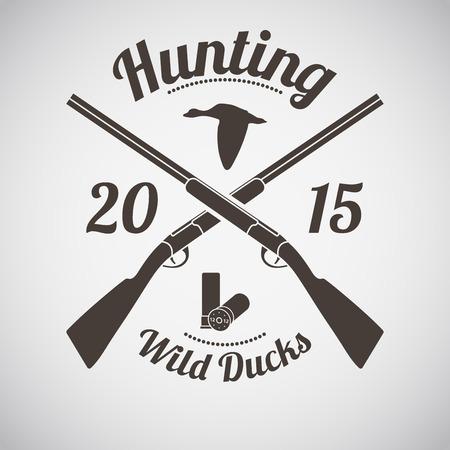 duck hunting: Hunting Vintage Emblem