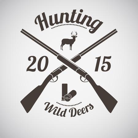 animals hunting: Hunting Vintage Emblem