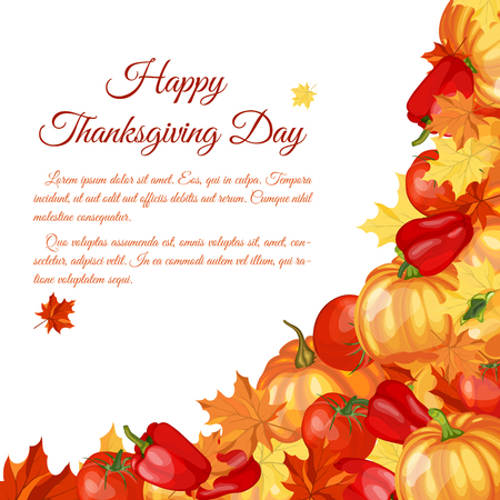 gourds: Thanksgiving Day Greeting Card With Text Space