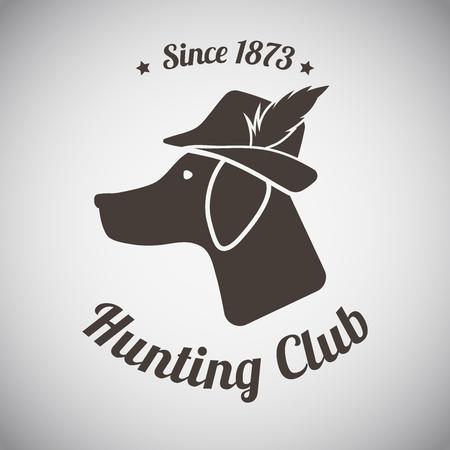 hunting dog: Hunting Vintage Emblem
