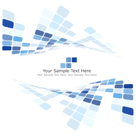 blue: Checkered Background With Text Space. Ideal Balanced Colors in Blue Tone. Suitable For Creating Business, Technological and Other Designs. Vector Illustration.