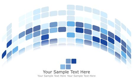 other space: Checkered Background With Text Space. Ideal Balanced Colors in Blue Tone. Suitable For Creating Business, Technological and Other Designs. Vector Illustration.