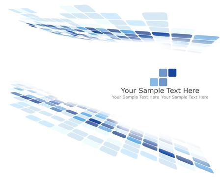 fondos azules: Fondo a cuadros con espacio de texto. Ideal colores equilibrados en tono azul. Adecuado para la creación de negocios, tecnológicos y otros diseños. Ilustración del vector.