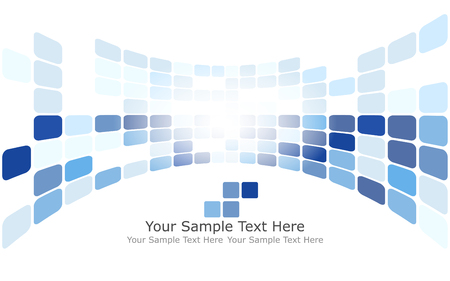 Checkered Background With Text Space. Ideal Balanced Colors in Blue Tone. Suitable For Creating Business, Technological and Other Designs. Vector Illustration.